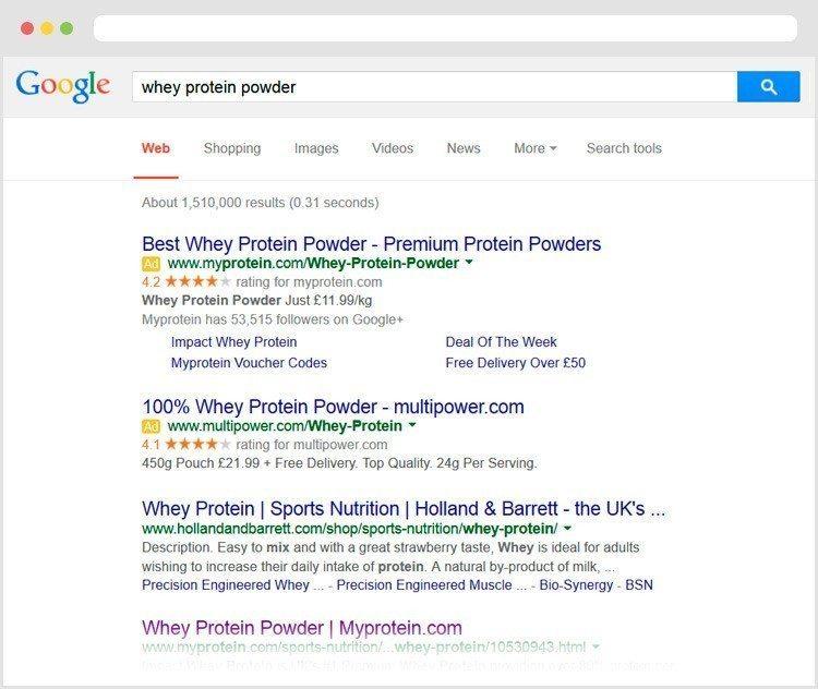 Google SEM paid adverts